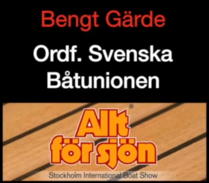 Bengt Gärde på Båtriksdagen 2015