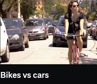 Bild fr ån filmens intro, bilar o cykel