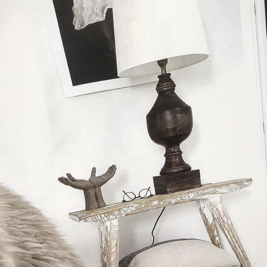 Lampfot Nomad i trä