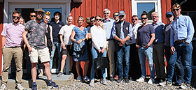 Participants and team members at SMaRC demonstration days 2020 at Askö Laboratory