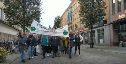 Demonstrationståg genom Örebro 2019