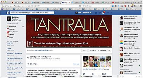 TANTRALILA som Facebookevent