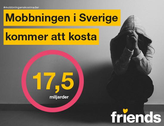 Mobbningen i Sverige kommer att kosta 17,5 miljarder