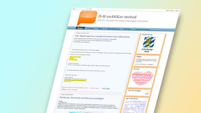 Skärmbild från hemsidan