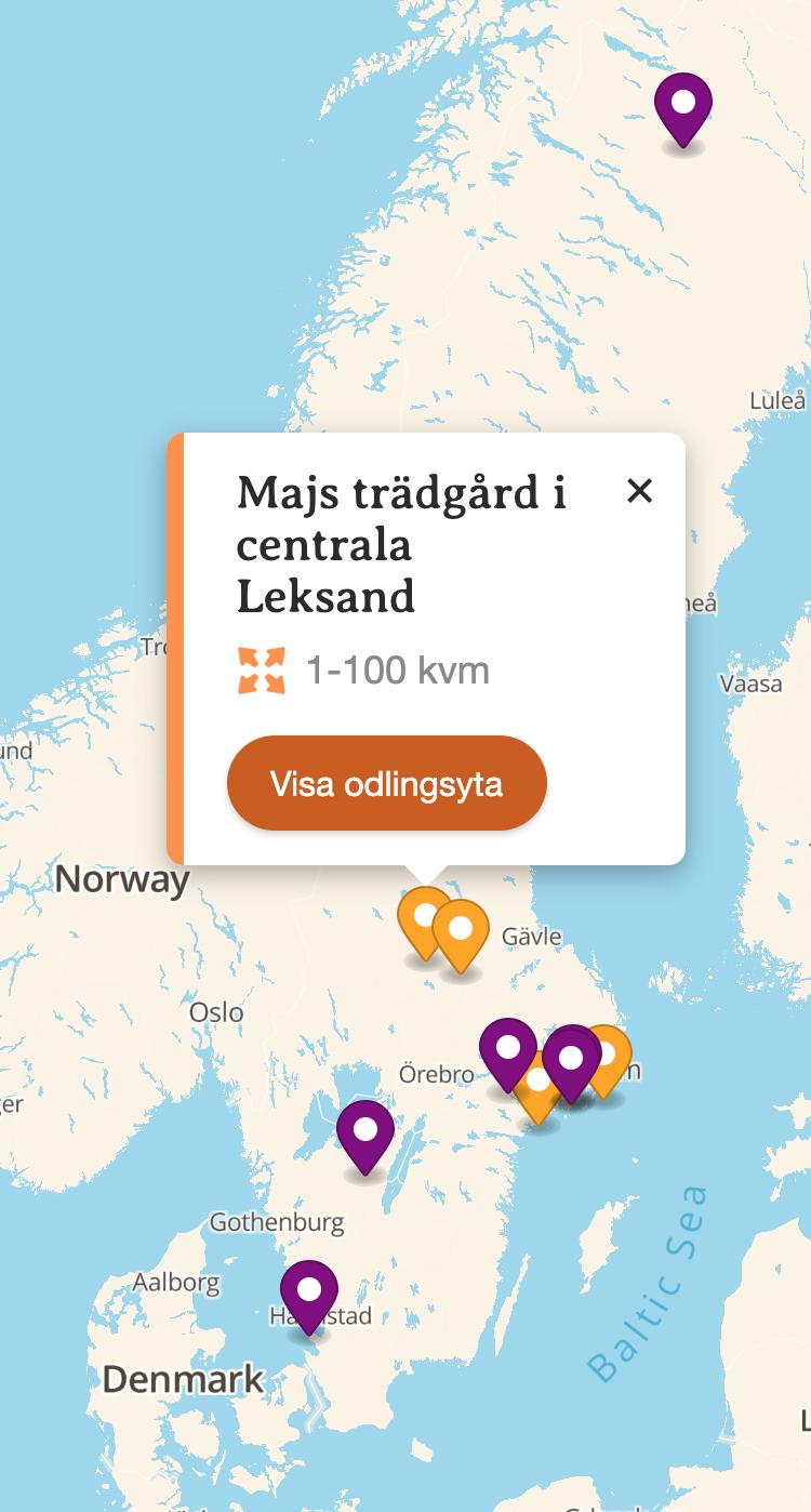 Testversionen av kartan.