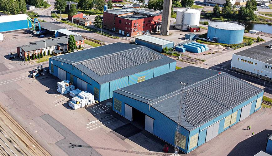 Sola i Karlstad ger energi - Vänerhamn goes green