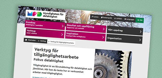 Skärmbild från MFDs hemsida