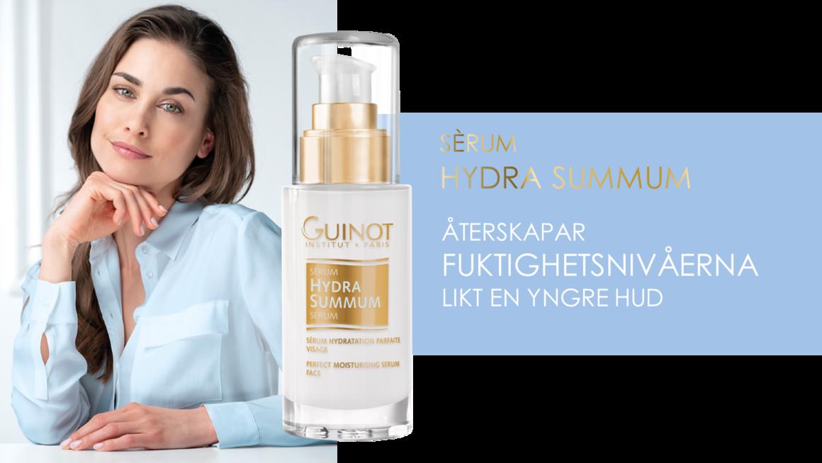 Serum Hydra Summum motverkar fuktförlus och bygger upp hudens fuktighetsnivå likt en ung huds.