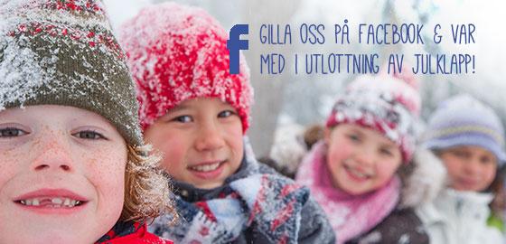 Gilla oss på Facebook och var med i utlottning av julklapp!
