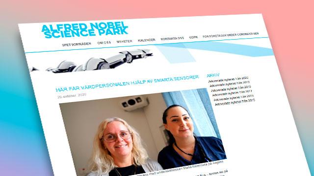 Bild av projektets hemsida