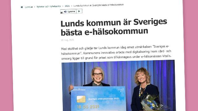 Lund är Sveriges bästa e-hälsokommun