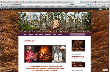 Gudar & Djur - hemsidan