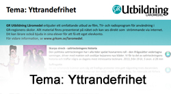 Tema: Yttrandefrihet
