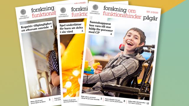 """Framsidor från tidskriften """"Forskning om funktionshinder pågår"""""""