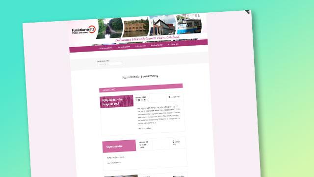 Funktionsrätts evenemangssida