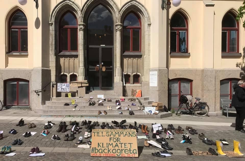 bild från rådhustrappan i Örebro