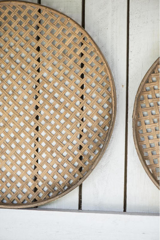 Flätade brickor i bambu