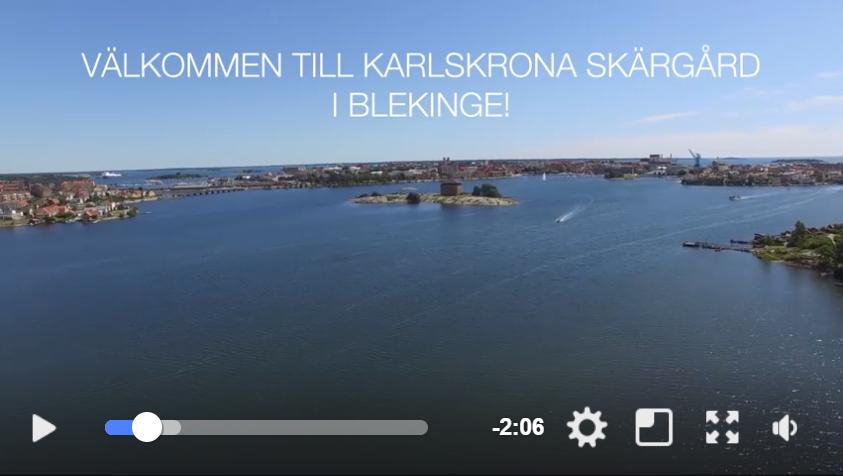 Välkommen till Karlskrona skärgård.