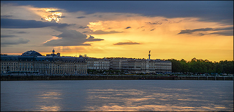 Bordeaux solnedgång
