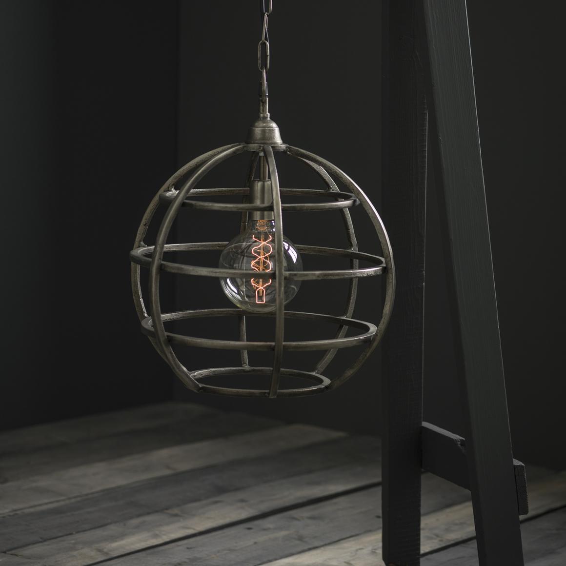 Taklampa Bristol, råsilver, 41 cm, 1995kr