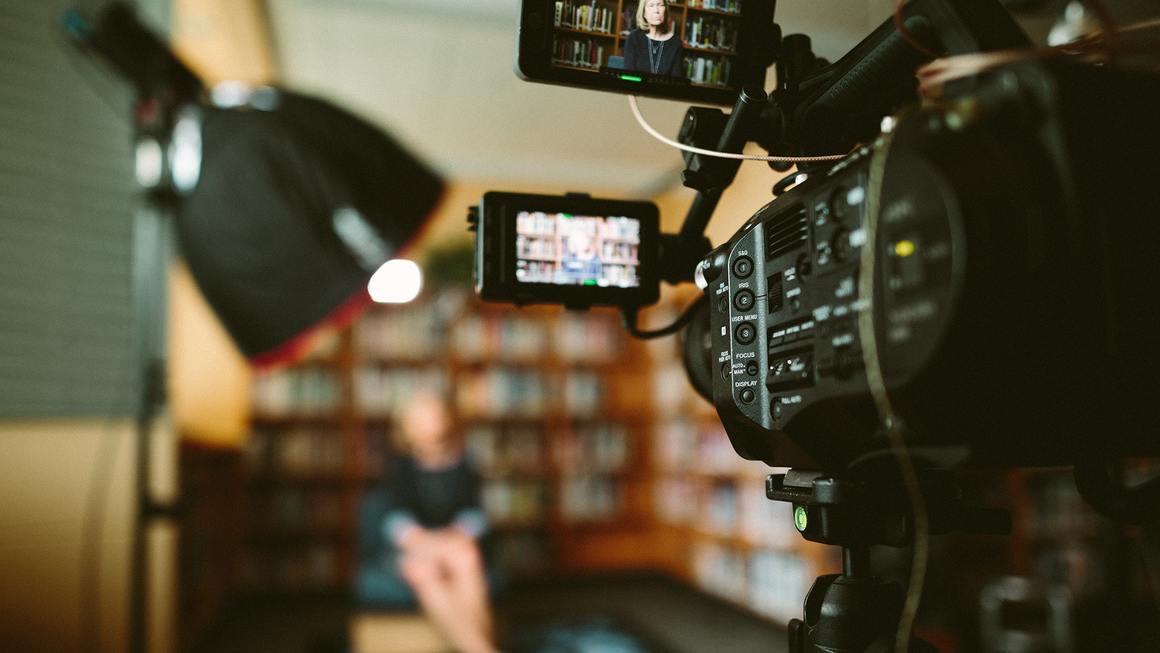 Närbild på videokamera