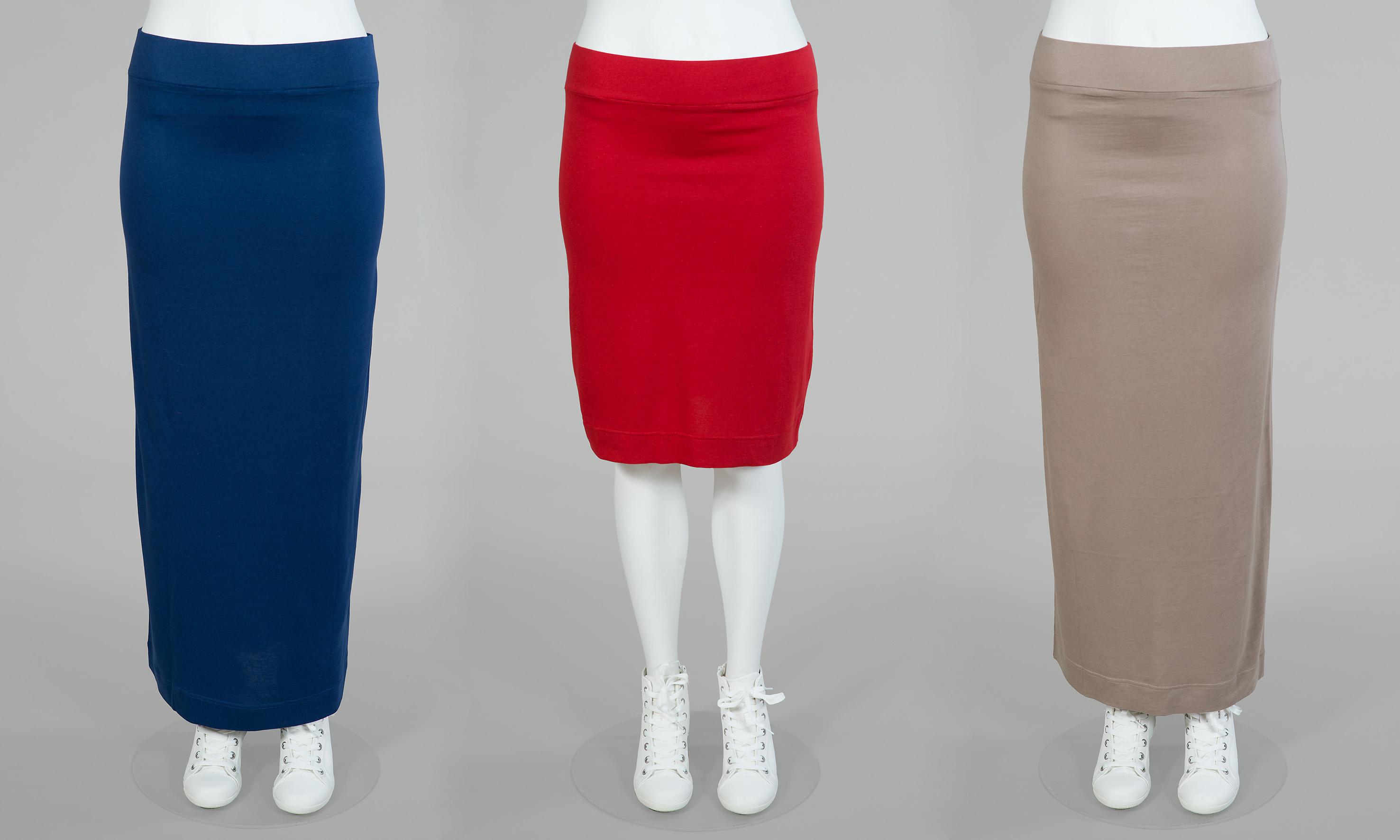 Paris kjol kort och lång. Finns i svart/vit, grön/vit, röd, blå och beige.  Värde 349:-/399:-