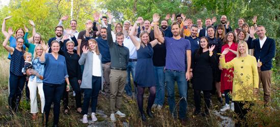 Ledamöter och personal i Sveriges unga akademi. Foto: Erik Thor/SUA