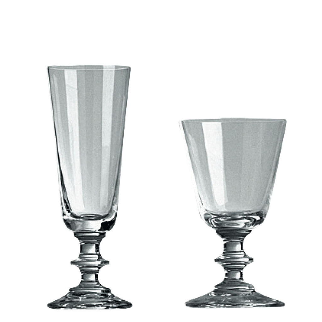 Vin- och champagneglas på fot