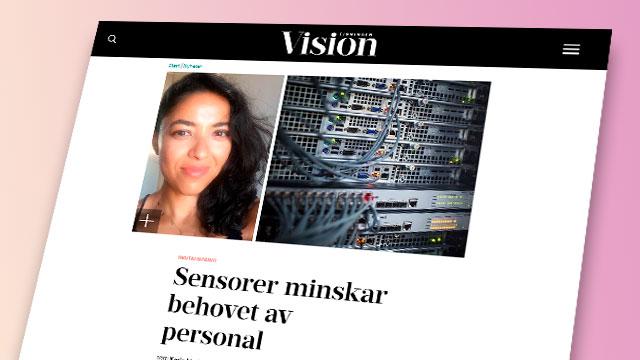 Skärmbild från tidningen Visions hemsida