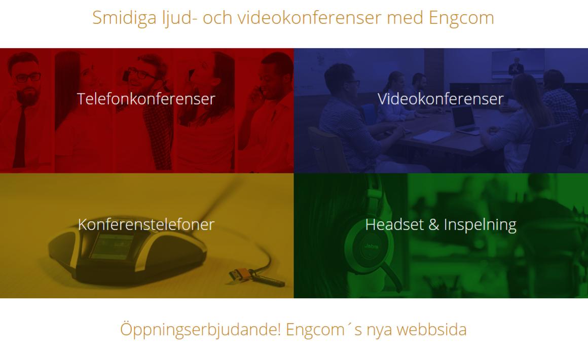 , Öppningserbjudande! Engcom´s nya webbsida, Engcom Scandinavia AB