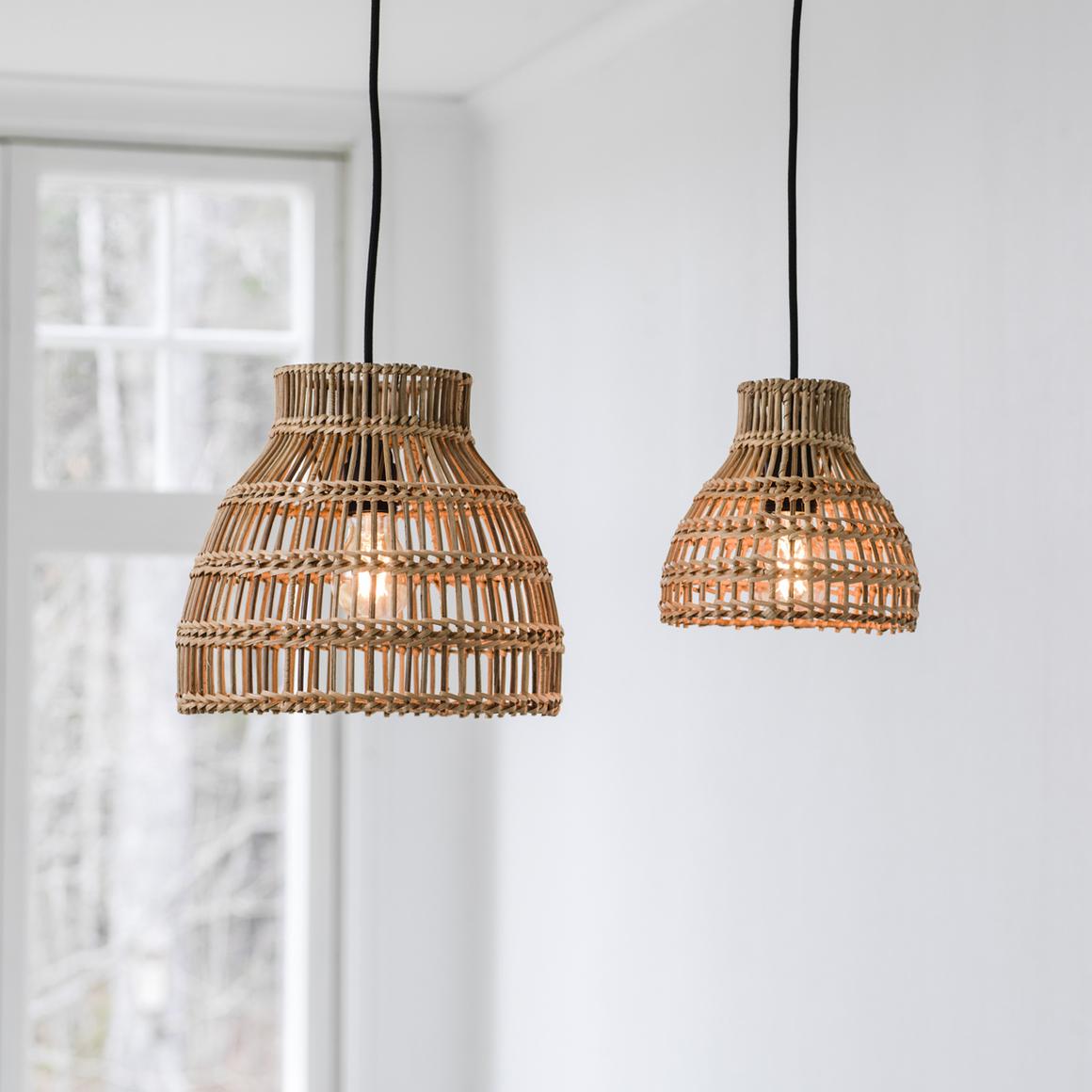 Lampor Sarah, naturmaterial