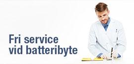 fri service vid batteribyte