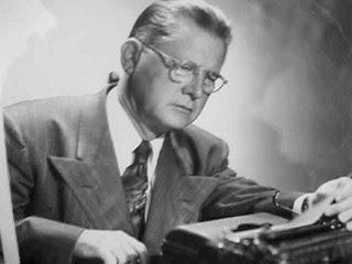 Erle Stanley Gardner vid skrivmaskinen
