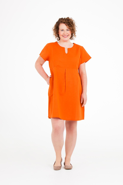 Signe klänning i orange kan du nu fynda för 599:- (Ord.pris 799:-)