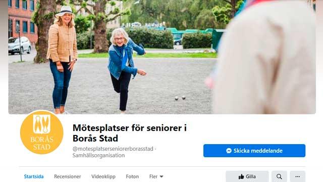Skärmbild från mötesplatsen på Facebook