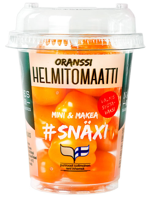 1604004 Tomaatti Oranssi #SNÄXI helmitomaatti, 200g pikari