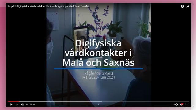 Skärmbild från filmklipp om projektet