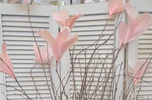 Fjäder blomma, vit, 12-pack - A lot Decoration 49 kr