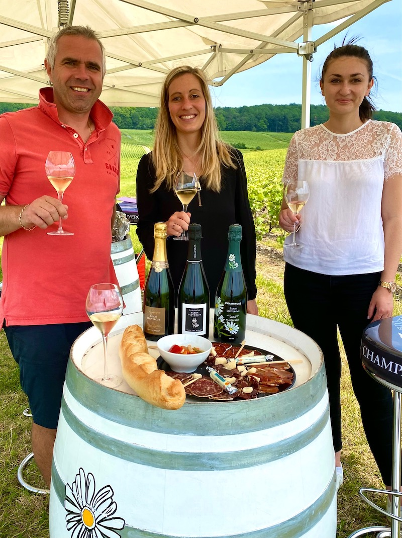 Picknick i vingården i Bouzy med Barom Dauvergne